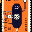 Stock Photo: Vintage postage stamp. Socket .