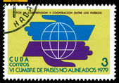 Vintage postage stamp. New World Economic Order. — Stock Photo