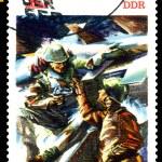 Vintage postage stamp. Brotherhood in Arms. — Stock Photo