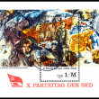 Vintage postage stamp. When Communists Dream. — Stock Photo