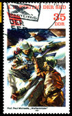 Vintage postage stamp. Brotherhood in Arms. — Stock Photo