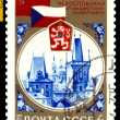 Stock Photo: Vintage postage stamp. Liberation to Czechoslovakia.