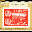 Stock Photo: Vintage postage stamp. Cuban Railway.