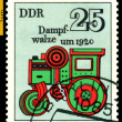 Royalty-Free Stock Photo: Vintage postage stamp. Steam Roller.