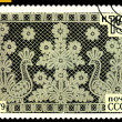 Vintage postage stamp. Vologodskoe lace. — Stock Photo