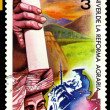 Vintage  postage stamp. Cuba. Agrarian Reform. - Stock Photo