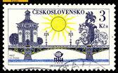 Vintage postzegel. cvatopluk cech brug. praag. — Stockfoto