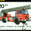 Vintage postage stamp. Jelcz engine. — Stock Photo
