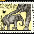 Vintage  postage stamp. Indian Elefants. — Stock Photo