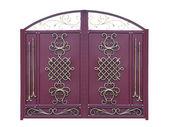 Decorative Gates in Old-time stiletto — Stock Photo