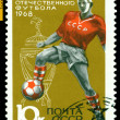 Vintage  postage stamp. Soccer player. — Stock Photo