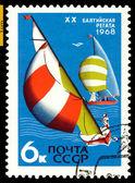 Vintage posta pulu. baltık regatta. — Stok fotoğraf