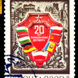 Vintage  postage stamp.  Warsaw Treaty. — Stock Photo