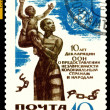 Stock Photo: Vintage postage stamp. Declaration on Colonial independence.