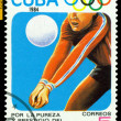 Vintage postage stamp. Volleyball. — Stock Photo