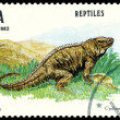 Vintage postage stamp. Cyclura nubila. — Stock Photo