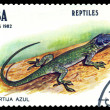 Vintage postage stamp. Anolis allisonis. — Stock Photo