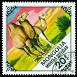 Vintage postage stamp. Camel and Calf. — Stock Photo #32893663