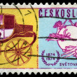 Vintage postage stamp. Mail coach. — Stock Photo