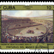 Vintage  postage stamp.  Bullfight. Velasquez. — Stock Photo