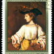 Vintage postage stamp. Rembrandt. Hendrik like Flora. — Stock Photo #33396741