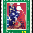 Vintage  postage stamp. Piano, by Pablo Picasso. — Stock Photo