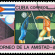 Vintage postage stamp. Women's Volleyball. — Stock Photo #34788691
