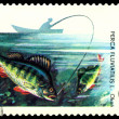 Stock Photo: Vintage postage stamp. Fish Perch.