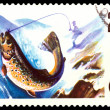 Vintage  postage stamp. Fish Trout. — Stock Photo