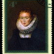 Stock Photo: Vintage postage stamp. Portrait of lady's maid, by Rubens.