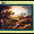 Stock Photo: Vintage postage stamp. Landscape with Rainbow by Rubens.