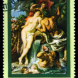 Stock Photo: Vintage postage stamp. Alliance of Water and Earth by Rubens.
