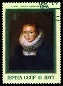 Vintage postage stamp. Portrait of the lady's maid, by Rubens. — Stock Photo