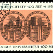 Stock Photo: Vintage postage stamp. Vilnius University.