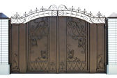 Forged decorative gates. — Stock Photo
