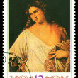 Stock Photo: Vintage postage stamp. Flora, by Titian.