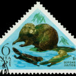Vintage postage stamp. Beaver. — Stock Photo #42876141