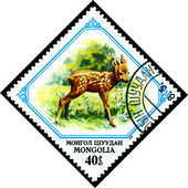 Vintage  postage stamp. Fawn. — Stock Photo