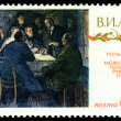 Vintage postage stamp. Conversation with Lenin. — Stock Photo