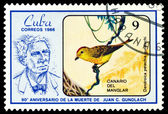 Vintage  postage stamp.  Dendroika petechia. — Stock Photo