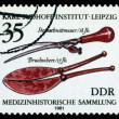 Vintage postage stamp. Lithotomy knife, 18th cent.. — Stock Photo