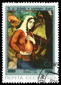 старинные почтовая марка. guriyka, с. ш. кикодзе. — Стоковое фото