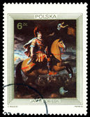 Vintage  postage stamp. King John III Sobieski. — Stock Photo