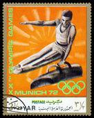 复古邮票。体操运动员. — 图库照片