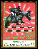 Vintage  postage stamp. Horseman. — Stock Photo