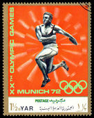 Vintage  postage stamp. Thrower. — Stockfoto