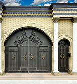 Large decorative gates and doors. — Stock Photo