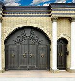 Large decorative gates and doors. — Stock Photo