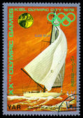 Vintage  postage stamp. Sailing. — Photo