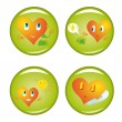Set of four st. Valentine buttons — Stock Vector #1631087
